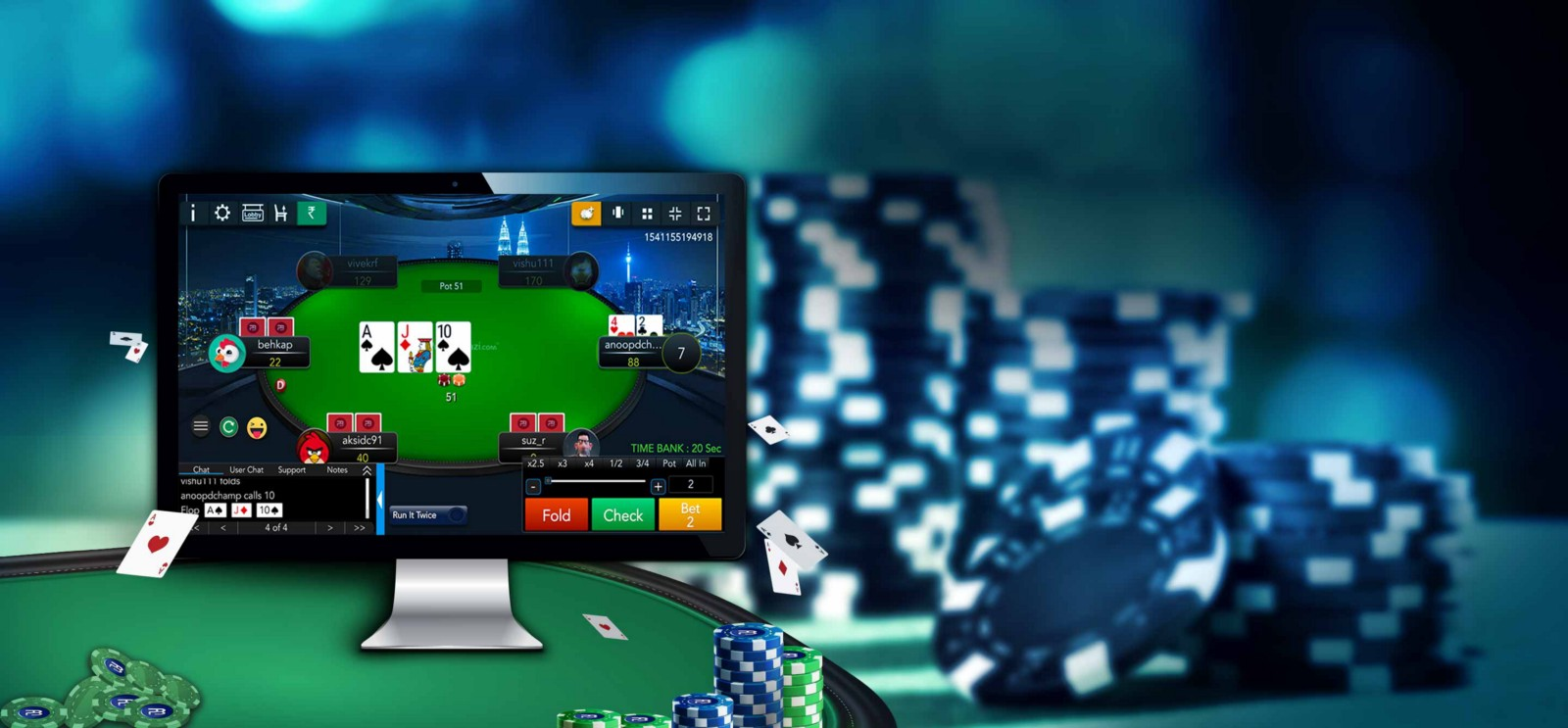Making Use of Great Knowledge in Poker Online